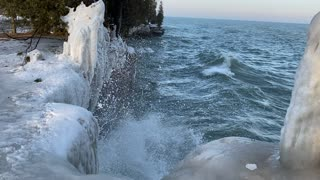 Beautiful waves from my icy trip to Wisconsin