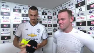 VIDEO: When Zlatan Ibrahimovic decides Wayne Rooney is Man of the Match - Video