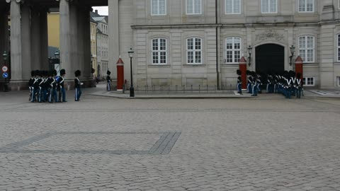 Changing of the Royal Guard in Copenhagen