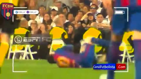 Ramos provoking Messi and then fouling him
