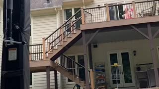 Trick Shot! Throwing Football into a Basketball Hoop over the House