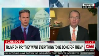 White House's Mulvaney Didn't Allow Tapper's To Run This Interview - Video