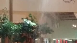 Heavy Rain Falls Through Ceiling - Video