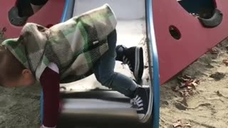 Collab copyright protection - mothersday toddler slide fail - Video