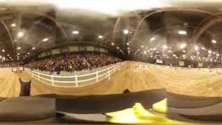 Horse Jumping Round In 360 Degrees! - Video