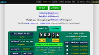 Bitcoin for free, a simple game  - Video