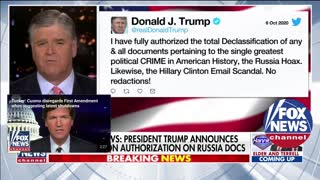 Trump authorizes declassification of Russia documents without redactions