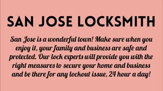 San Jose Locksmith - Video