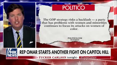 Tucker explains why you are not allowed to criticize Rep. Omar