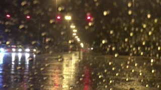 Raining Dubai late night  - Video