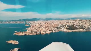 flying over marseille france