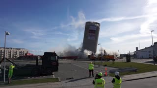 Silo Demolition Fail - Video