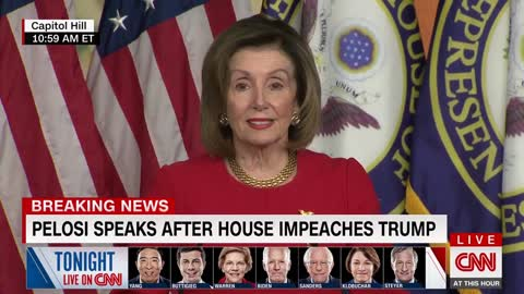 "Pelosi Says She Has A ""Spring In My Step"" After Impeachment Vote"