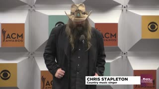 Chris Stapleton talks about his wife lifting him up | Rare Country - Video
