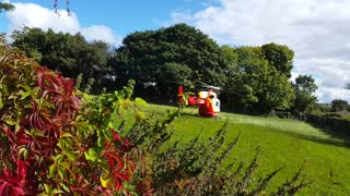 Air ambulance helicopter emergency landing and takeoff