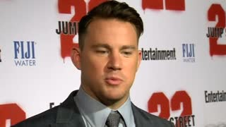 "Tatum Hits The ""22 Jump Street"" Red Carpet - Video"