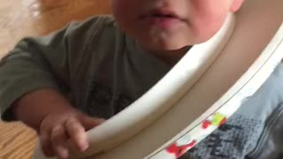 Toddler Somehow Gets Himself Stuck in Toilet Seat - Video