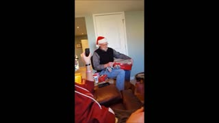 Grandpa's emotional reaction from surprise pregnancy announcement