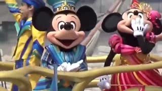Adorable King Micky Mouse And Queen Minnie Mouse Show