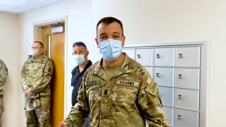 Army shows where they lock up soldiers who just returned from Afghanistan to quarantine