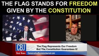 The Flag Stands For Freedom Given By The Constitution!