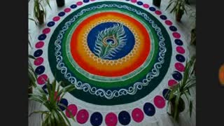 rangoli patterns - Video