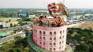 Dragon Wraps Around Amazing Temple