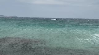 Kitesurfer Gets Some Serious Air During Storm