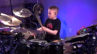 8-year-old drummer incredibly covers Van Halen's 'Jump'