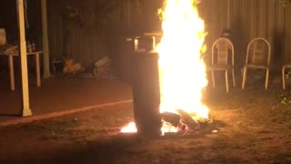 Bonfires and Beverages Don't Mix - Video