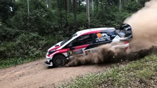 Near Miss at Rally Championship - Video
