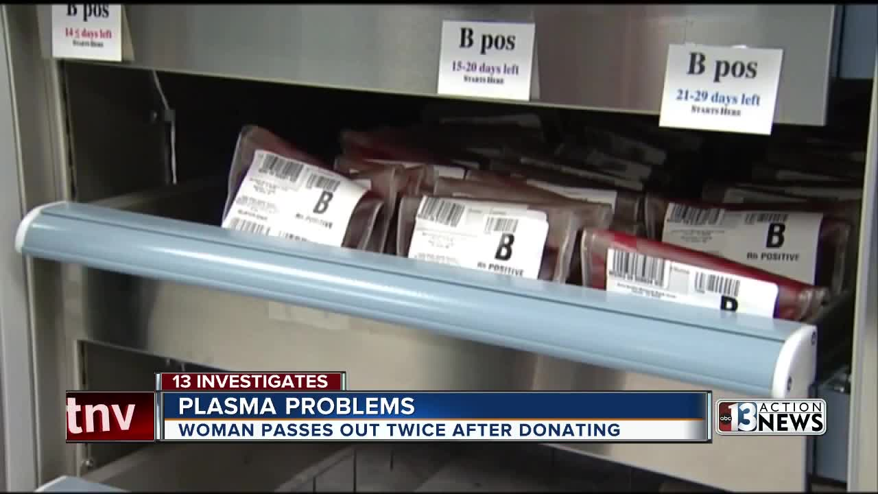 Las Vegas woman loses consciousness twice, sues after donating blood plasma