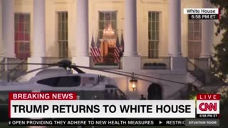 Trump Returns To White House And CNN In Shock