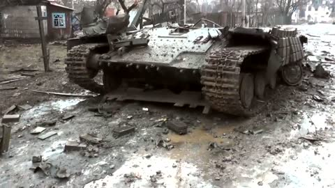 Vuhlehirs'k Donetsk Oblast After Massive Combats Of UA Against RU Forces, Feb 3 2015