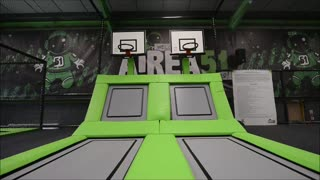 Airea51 trampoline park opens in Telford - Video