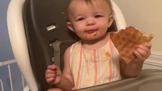 First Slice of Pizza Brings Precious Smile