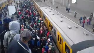 Overcrowding On Africa Train  - Video