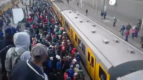 Overcrowding On Africa Train