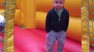 I will never be as cool as my 2 year old nephew in a bounce house - Video