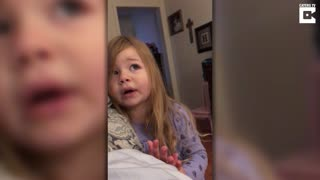 Adorable Toddler Scolds Her Dad For Leaving The Toilet Seat Up  - Video