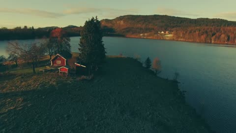 Drone footage magnificently captures autumn in Norway