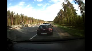 Speeding Vehicle And Merging Car Collide - Video