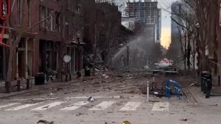 Footage From Christmas Day Terrorist Attack Explosion In Nashville