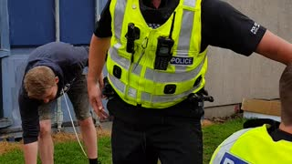 Police in Scotland Enjoy a Slip and Slide - Video