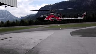 RedBull AH1-Cobra Helicopter Crash - Video