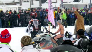 Bikini Snowmobiling - Video