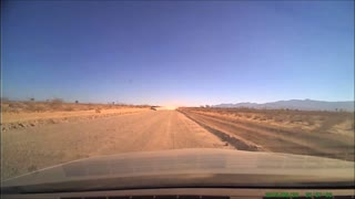 Reckless Driver on Dirt Road - Video
