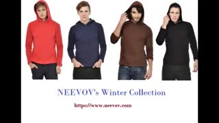 Turquoise Colour Mens Hooded T Shirts - Video