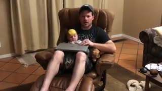 Cheese challenge results in surprisingly adorable fail