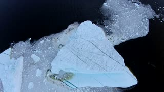 Incredible aerial footage of iceberg collapse